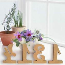 MaxFox Number 1-10 High Wooden Cutout Wedding Table Number P