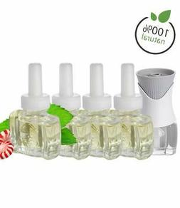 100% Natural Peppermint Essential Oil Kit 4 Plug In refills