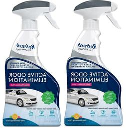 2x ACTIVE ODOR ELIMINATION Spray CITRUS Scent Car Air Freshe