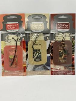 Yankee Candle 3 Multi Pack Car Jar Air Fresheners ~ NEW
