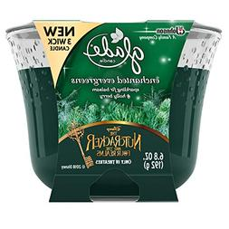 Glade 3 Wick Candle Air Freshener, Enchanted Evergreens, 6.8