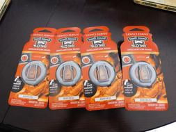 4 LEATHER Yankee Candle Scent Vent Clip Car Home AC Air Fres
