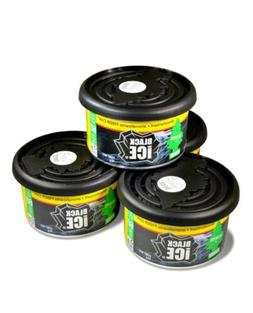 4 Pack Little Tree Fiber Can Black Ice For Car Home or Offic