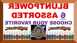 6 BluntPower 100% Concentrated Oil Based Air Fresheners Blun
