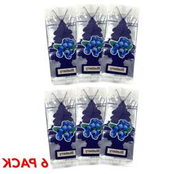 6 Pack Little Tree Blueberry | Air Fresheners Fruit Scent Ca