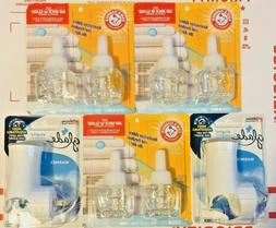 6NEW ARM & HAMMER FRESH LINEN SCENTED OIL AIR FRESHENERS *FI