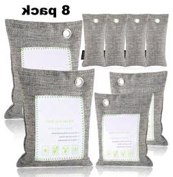 7 Pack Bamboo Moso Natural Fresh Air Purifying Bags Activate