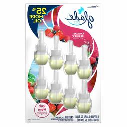 8 ct | Glade | PlugIns Scented Oil Refills | Radiant Berries