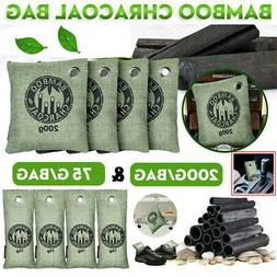 8 Bags Air Purifying Bag Purifier Nature Fresh Charcoal Bamb