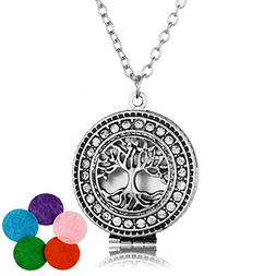 HOUSWEETY Aromatherapy Essential Oil Diffuser Necklace - Tre