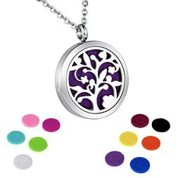 HOUSWEETY Aromatherapy Essential Oil Diffuser Necklace-Stain