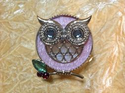 BATH BODY WORKS PINK OWL GEM SCENTPORTABLE HOLDER CAR VISOR