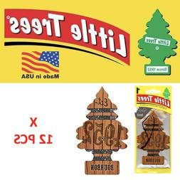 Bourbon Freshener Little Trees air 10975 MADE IN USA Pack of