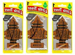 Bourbon Scented Little Trees Hanging Car Air Fresheners 24pk