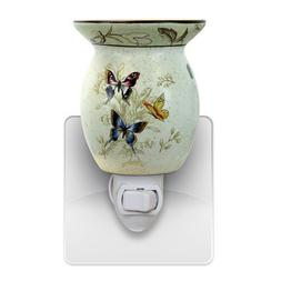 Butterfly Wall Plug In Scented Oil Tart Burner Warmer Night