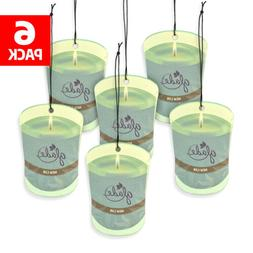 Glade Car Air Freshener 6-Pack Candle Design Glade Air Fresh