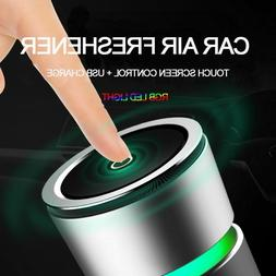 Car Air Purifier Freshener Ionizer USB RGB LED Light Electri