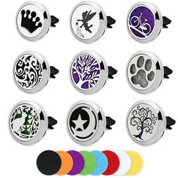 Car Home Essential Oil Diffuser Locket Aromatherapy Air Fres