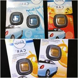 Febreze Car Vent Clips Air Freshener Smoke Odor Fresh Citrus