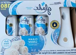 Glade Clean Linen Scent Automatic Air Fresheners Spray Start
