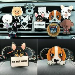 Cute Puppy Dog Car Air Freshener Conditioning Auto Vent Clip