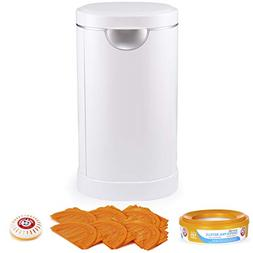 Munchkin Diaper Pail Starter Set, Powered by Arm & Hammer, 1