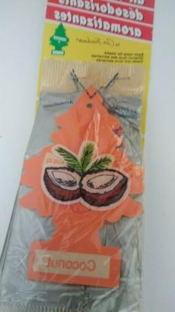 Little Trees Hanging Car and Home Air Freshener, Coconut ove