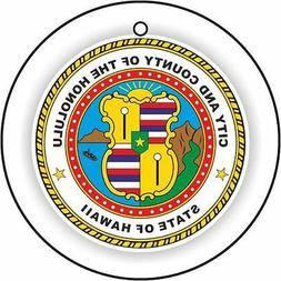 Hawaii Honolulu City Seal Car Air Freshener