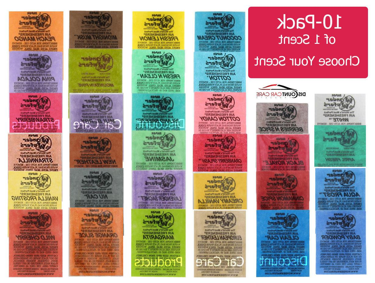 10 pack individually wrapped air fresheners choice