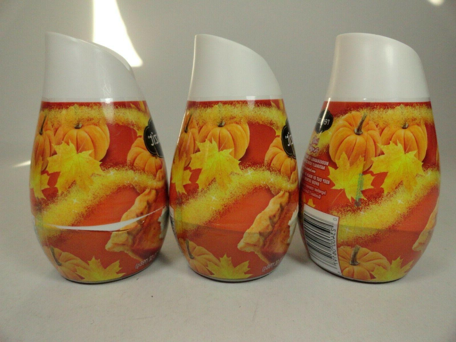 3 Renuzit Air Freshener Gel Hello Pumpkin 7oz