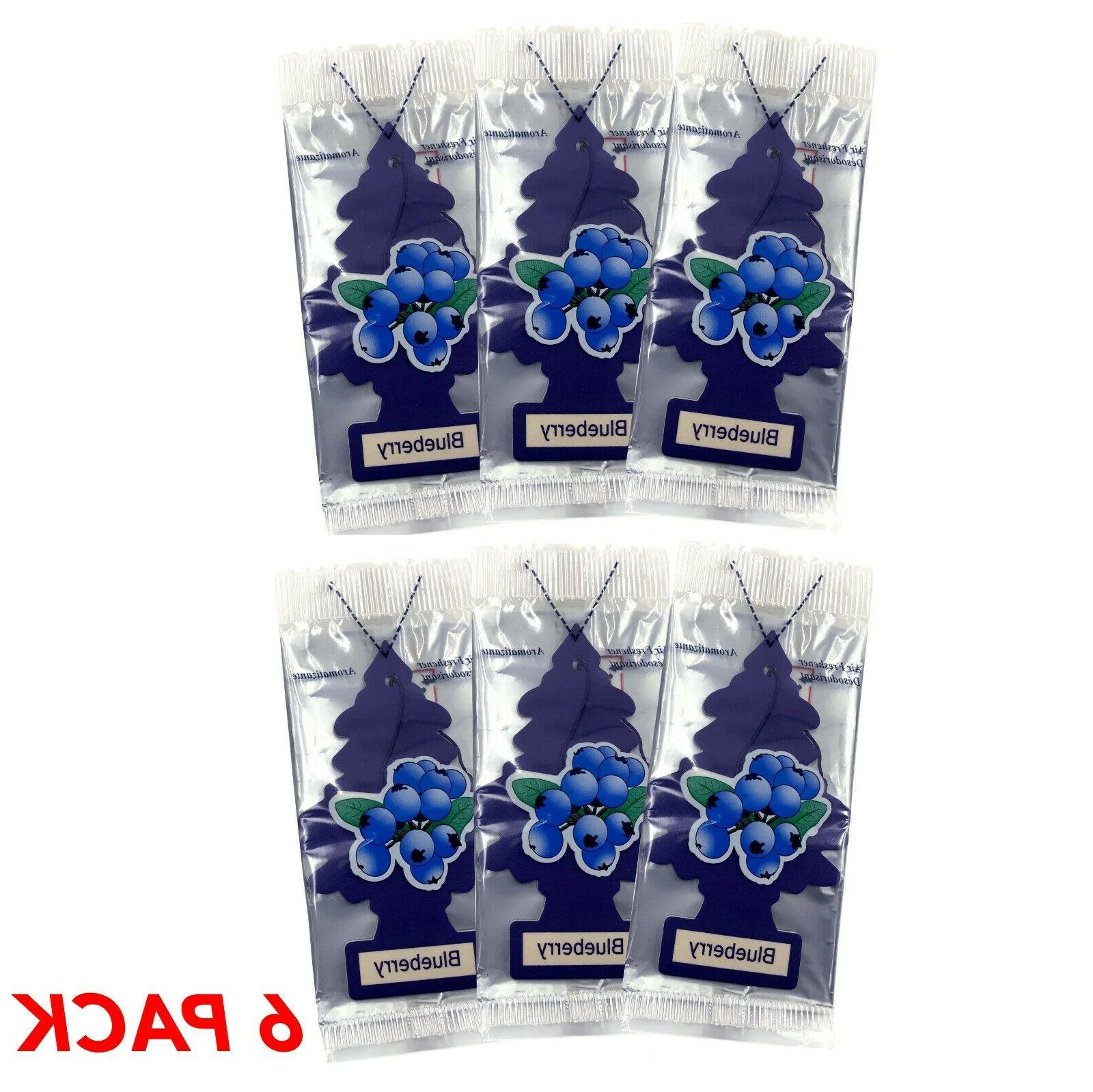 6 pack little tree blueberry air fresheners