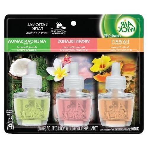 assorted national park scented oil