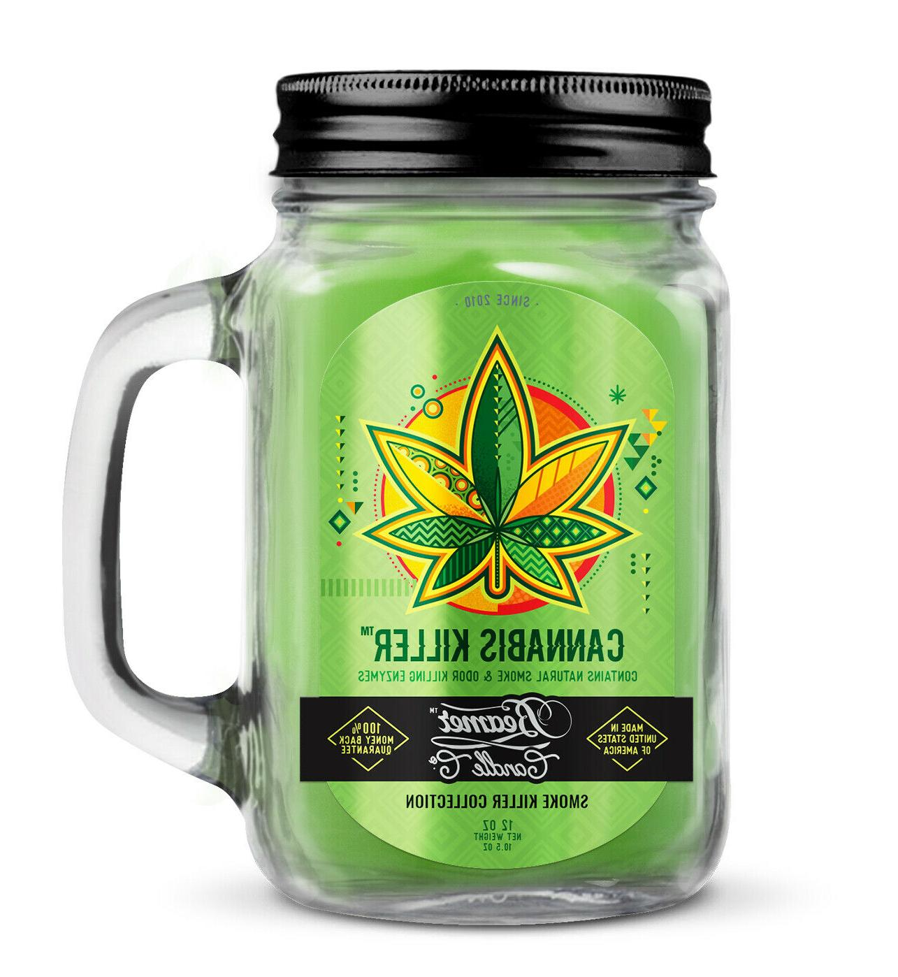 cannabis killer scented beamer candle