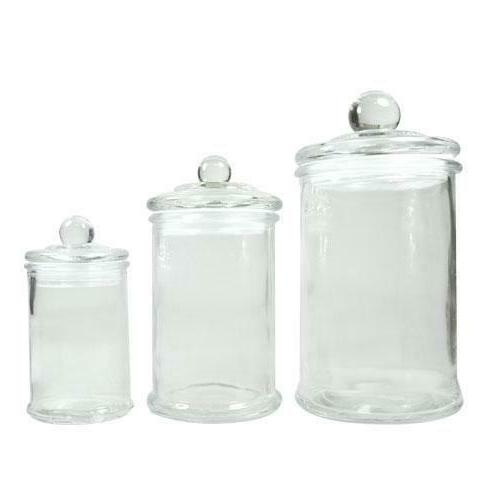 clear container storage glass jars and lids
