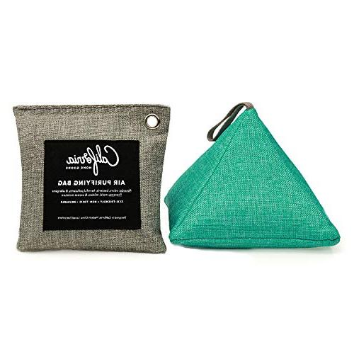 4 Pack - Charcoal Home Car and Bags, Organic Activated Bamboo Air