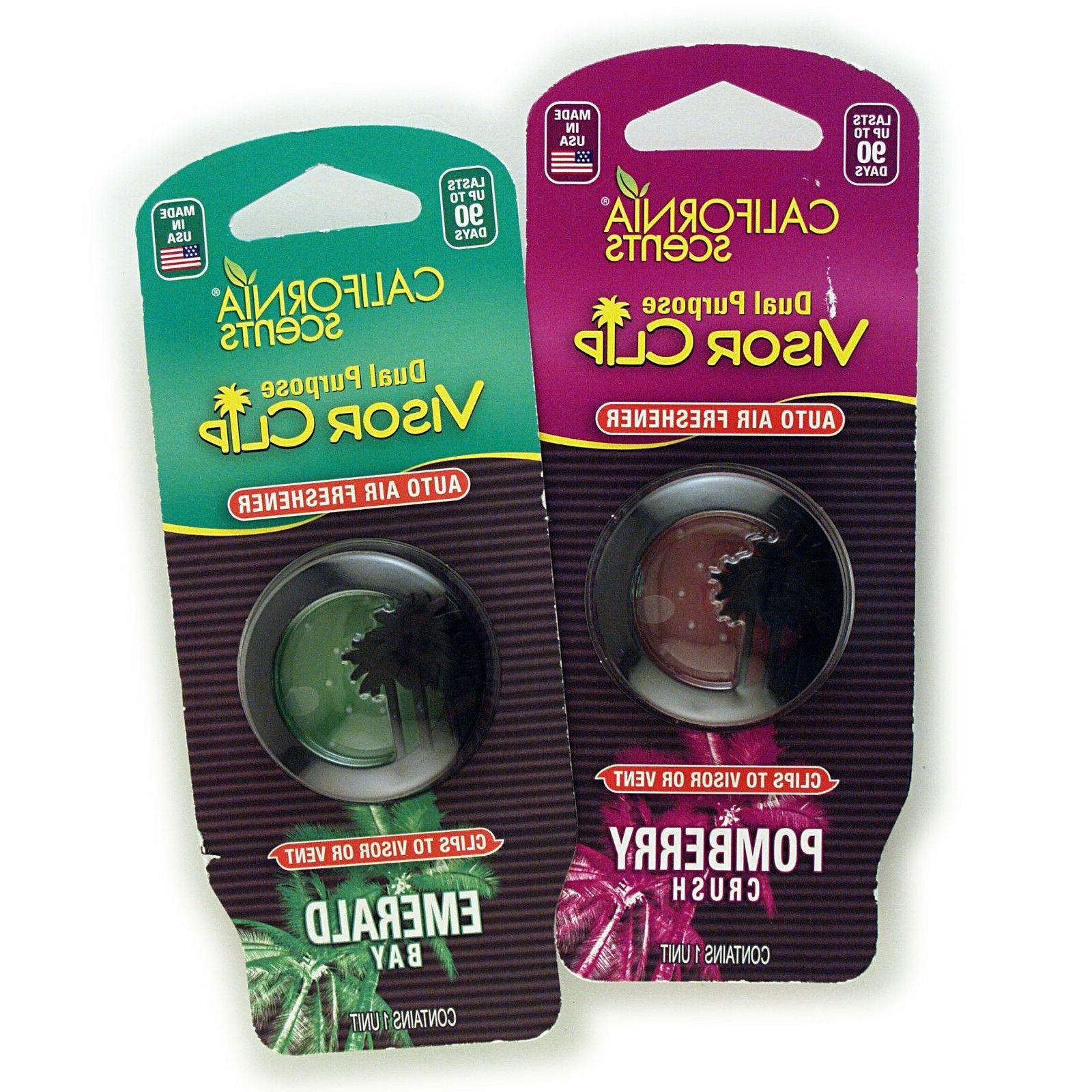 dual purpose auto visor clip air fresheners