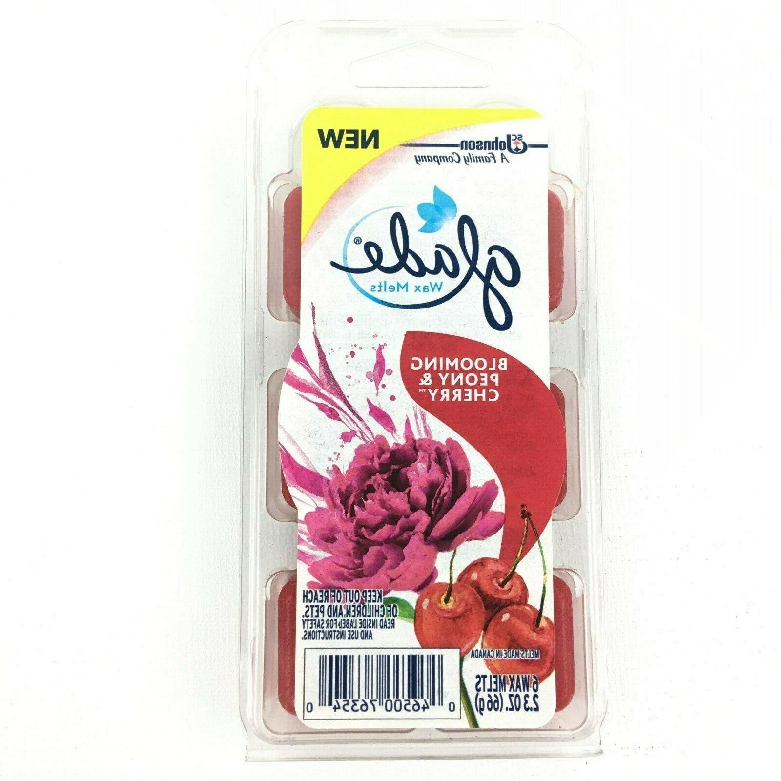 glade blooming peony cherry scented wax melts each