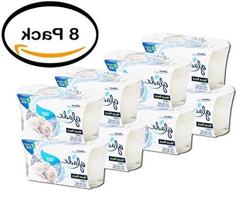 pack of 8 clean linen candle air