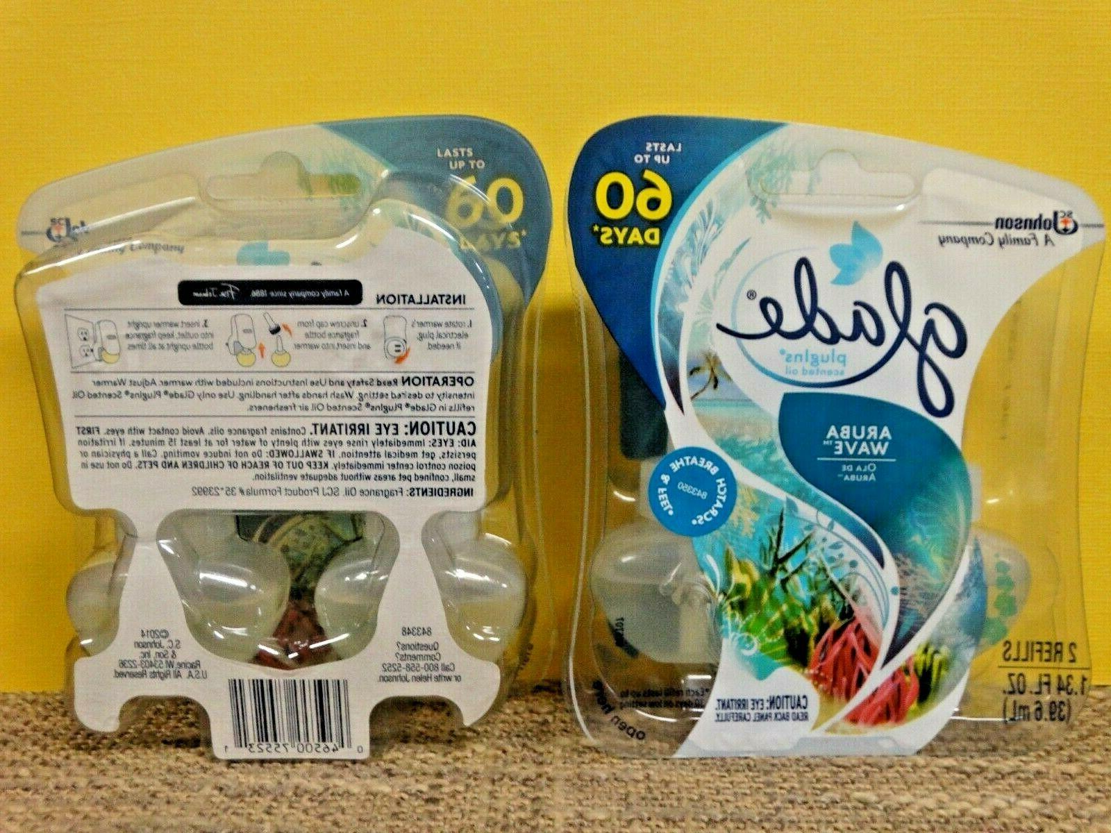 Glade Refills 2 Packs ~ Aruba Wave ~