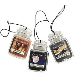 Yankee Candle Leather + Midsummer's Night + New Car Scent Ca