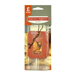 YANKEE CANDLE LEATHER CAR JAR AIR FRESHENER X10