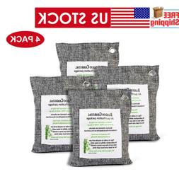 Natural Bamboo Air Fresh Purifier 4 Bags Activated Charcoal