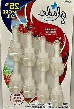 New Glade Limited Edition PlugIns Scented Oils Refills 8 Ct