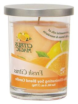 Citrus Magic Odor Eliminating Soy Blend Candle, Pack of 6, 6