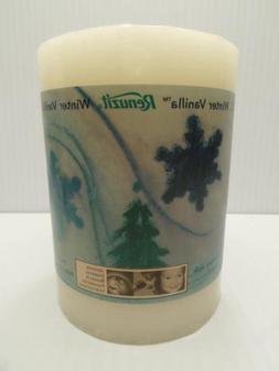pillar candle winter vanilla scent