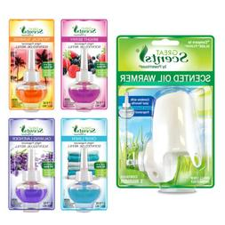 Great Scents Plug In Air Freshener and Oil Warmer 1 Ct + 3 S