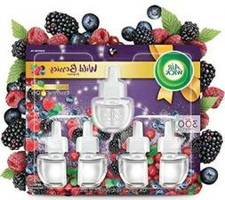 Air Wick plug in Scented Oil 5 Refills, Wild Berries, Holida