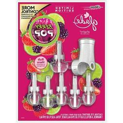 Glade PlugIns 6 Scented Oil Refills + Warmer NEW Berry Pop