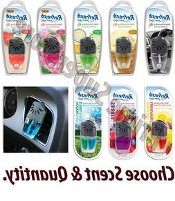 Refresh Your Car AC Vent Clip Air Freshener Scent Oil Wick E