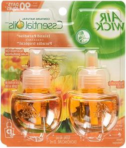 Air Wick Scented Oil Air Freshener, Island Paradise, 2 Refil